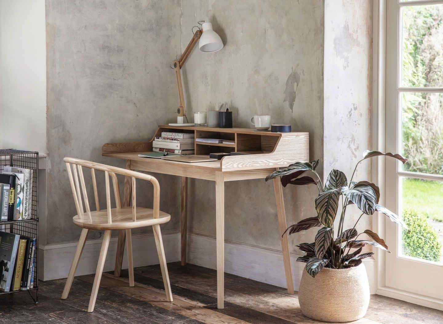 Space-saving desks. Ashwicke Desk with Storage from Garden Trading