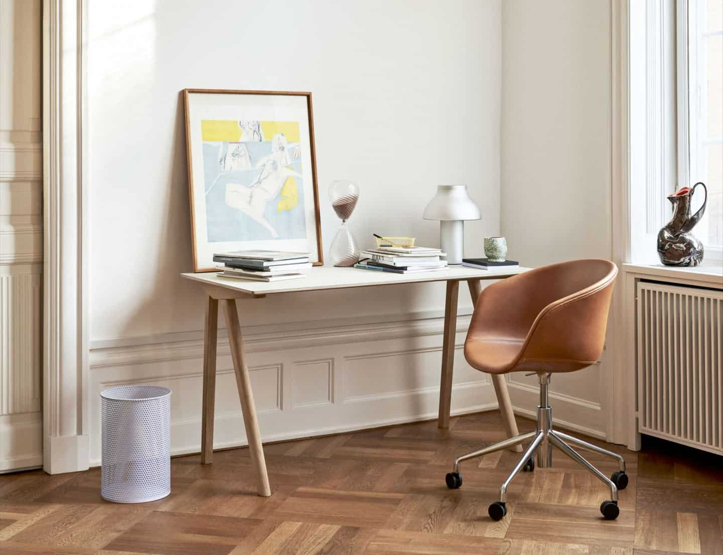 Space-saving desks. The Hay Copenhague CPH90 desk from Nest