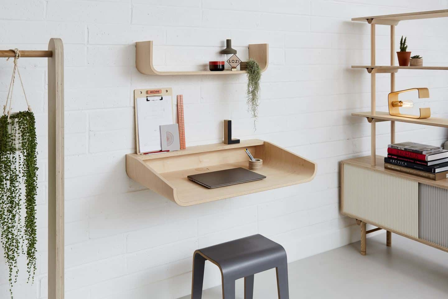 Space-saving desks.  The U Desk from Lozi