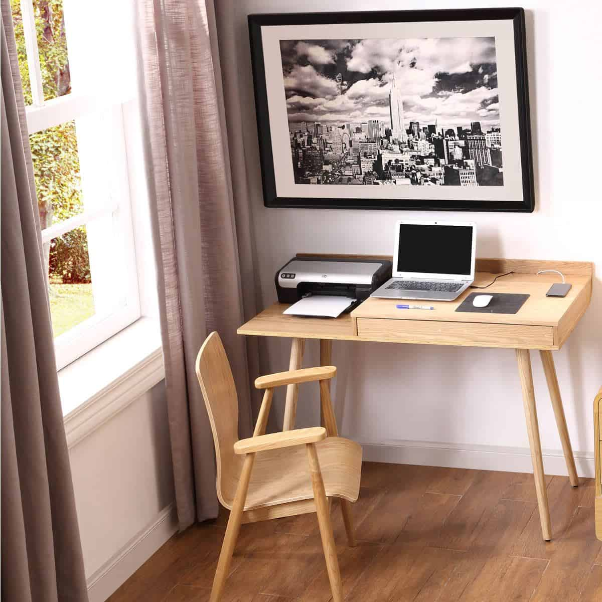 Space-saving desks. San Francisco Desk from Wooden Furniture Store