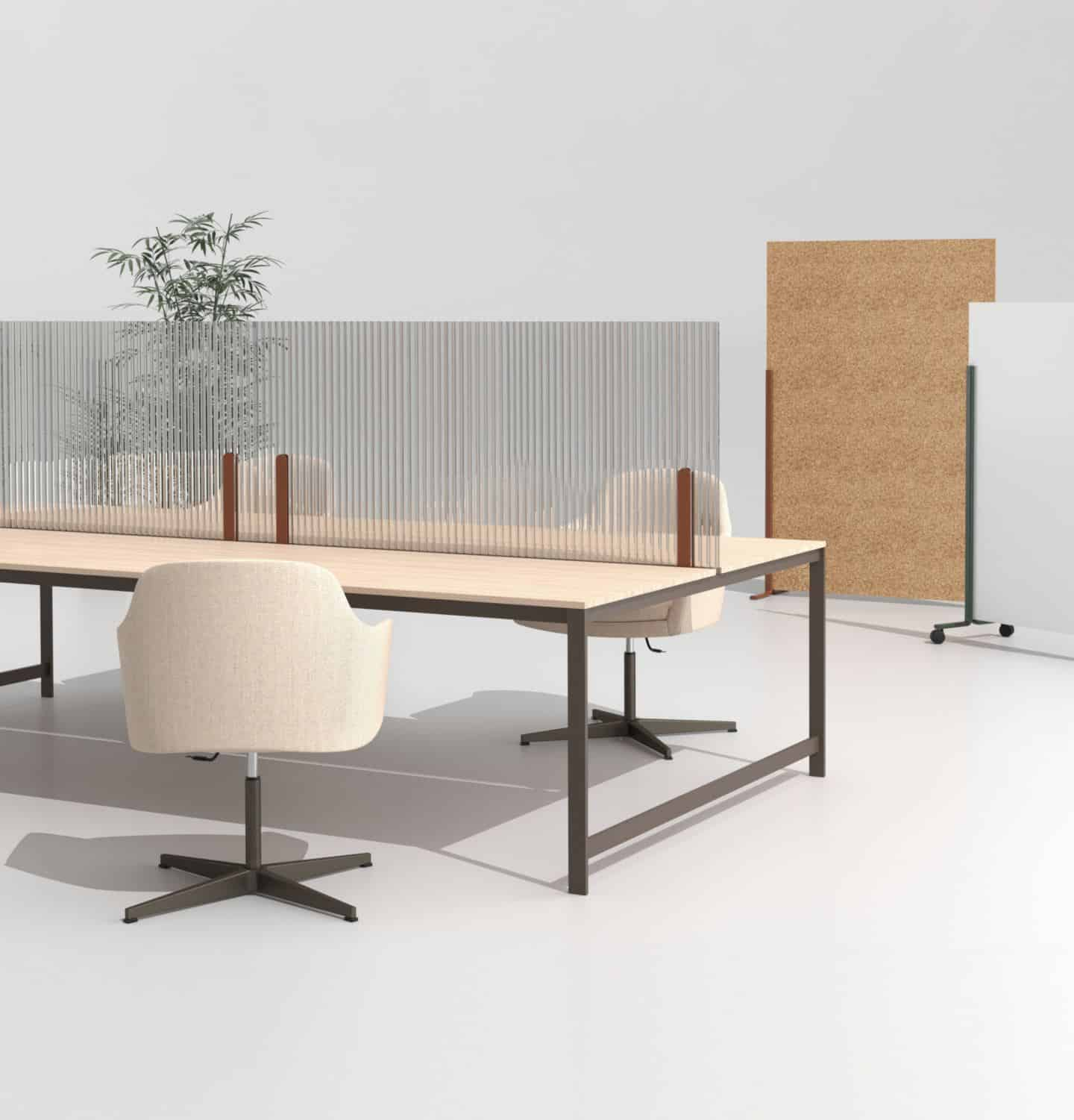 Hinoki Protective Office Screens for the post-pandemic workplace by Manerba Spa