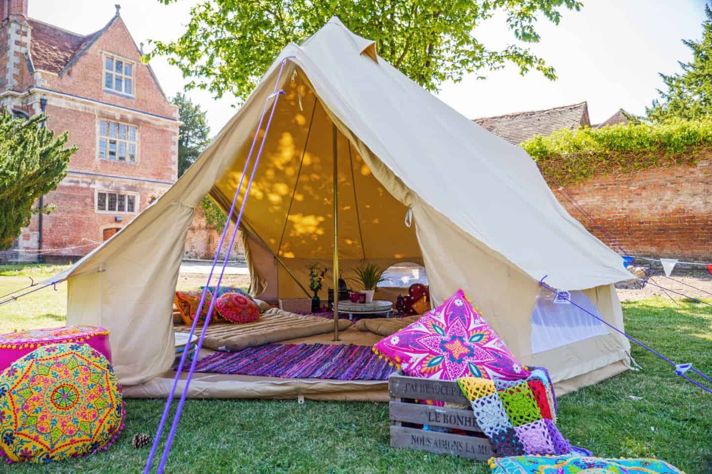 Glamping is a great idea for a summer staycation in your garden