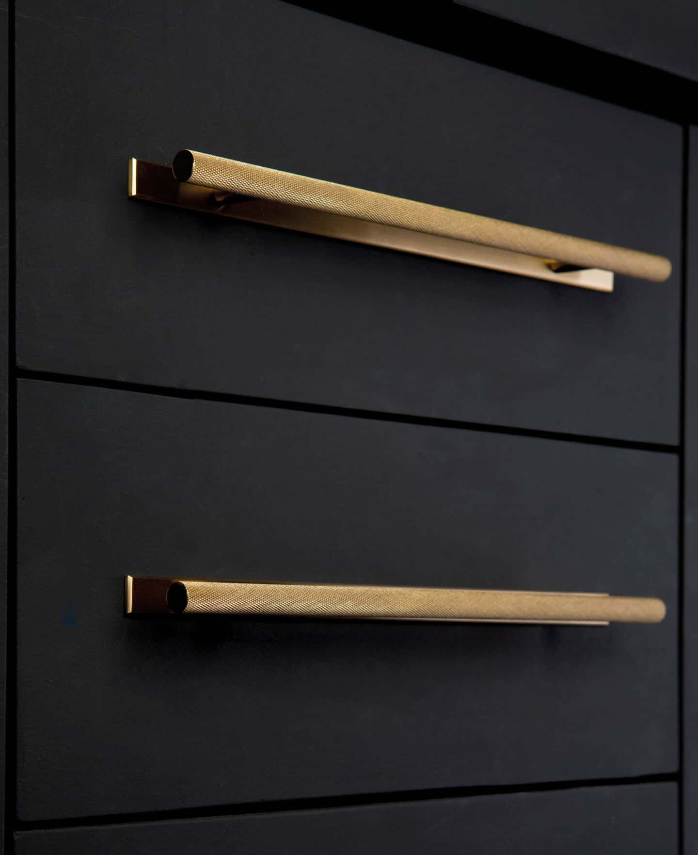 6 Easy Ways to Spruce Up Your Kitchen on a Budget. Replace the hardware on the cabinets. Skyscraper Knurled Handle in Raw Brass by Dowsing & Reynolds
