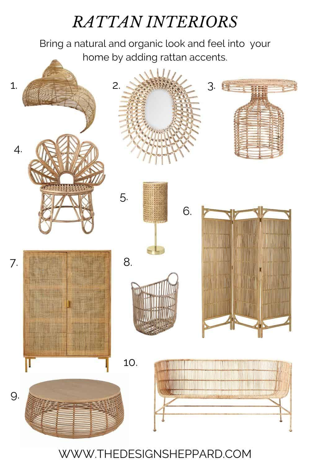 10 great products for Rattan interiors