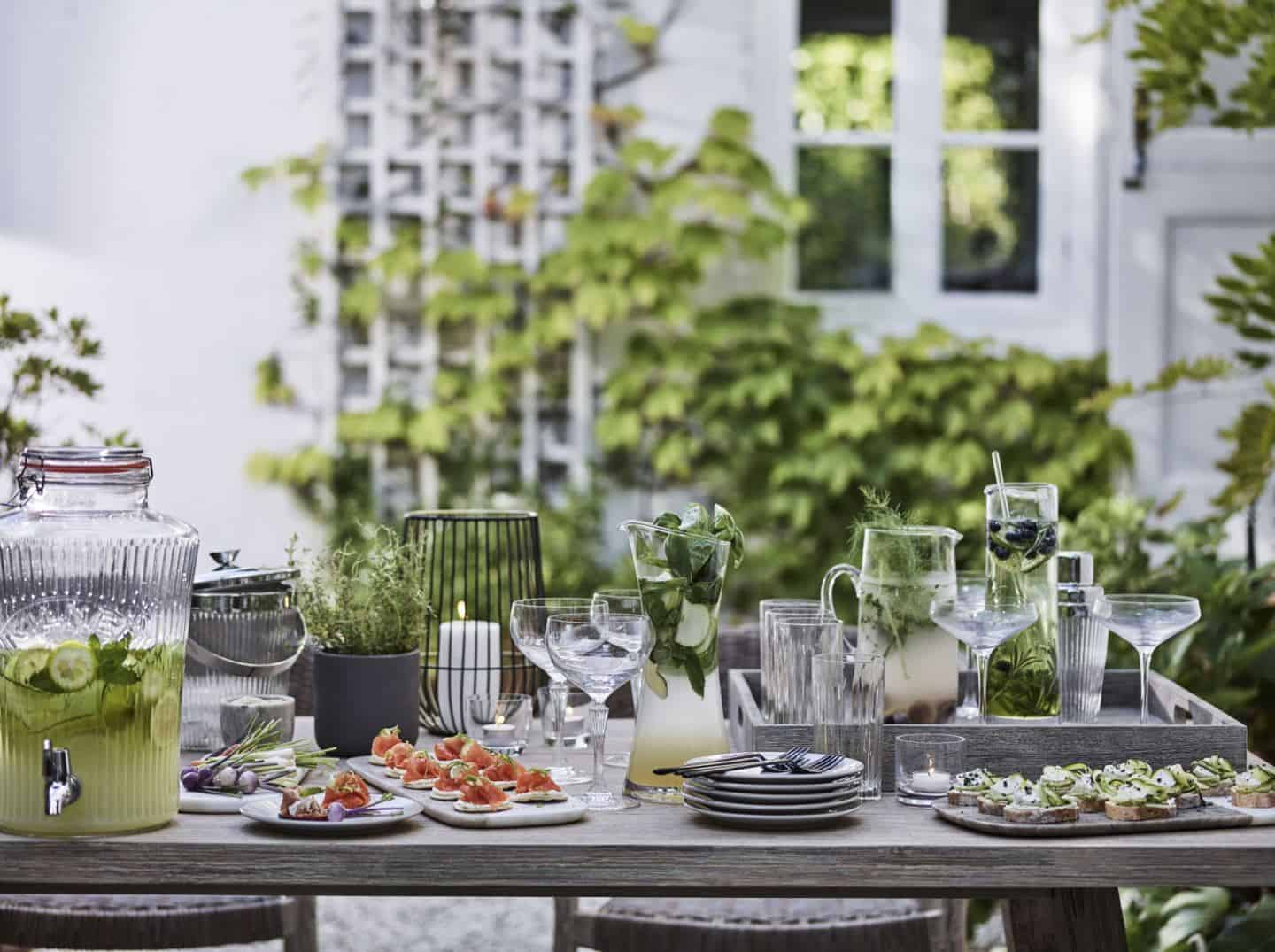 Eating al fresco creates holiday vibes for a summer staycation in your garden