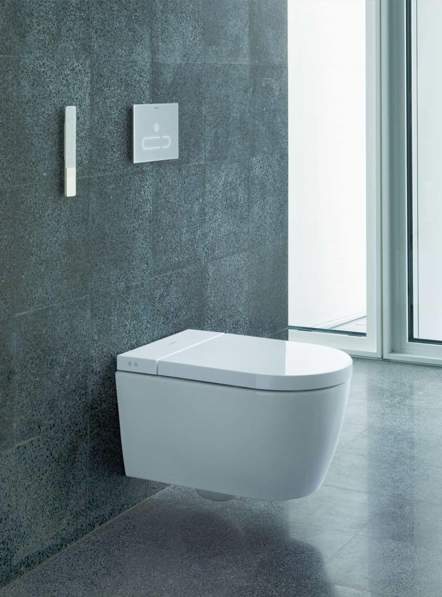 Duravit SensoWash Stark f shower toilet for increased hygiene in the bathroom