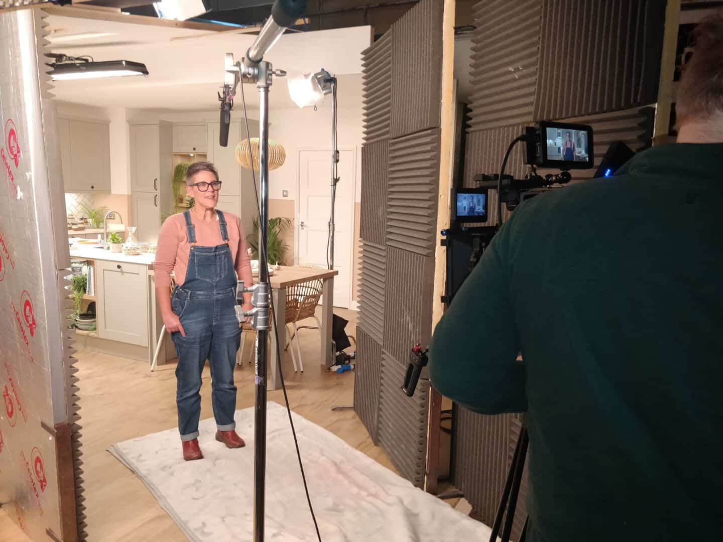 Award-winning interiors blogger STacey Sheppard on the set of Magnet's Tatton Kitchen in Pebble