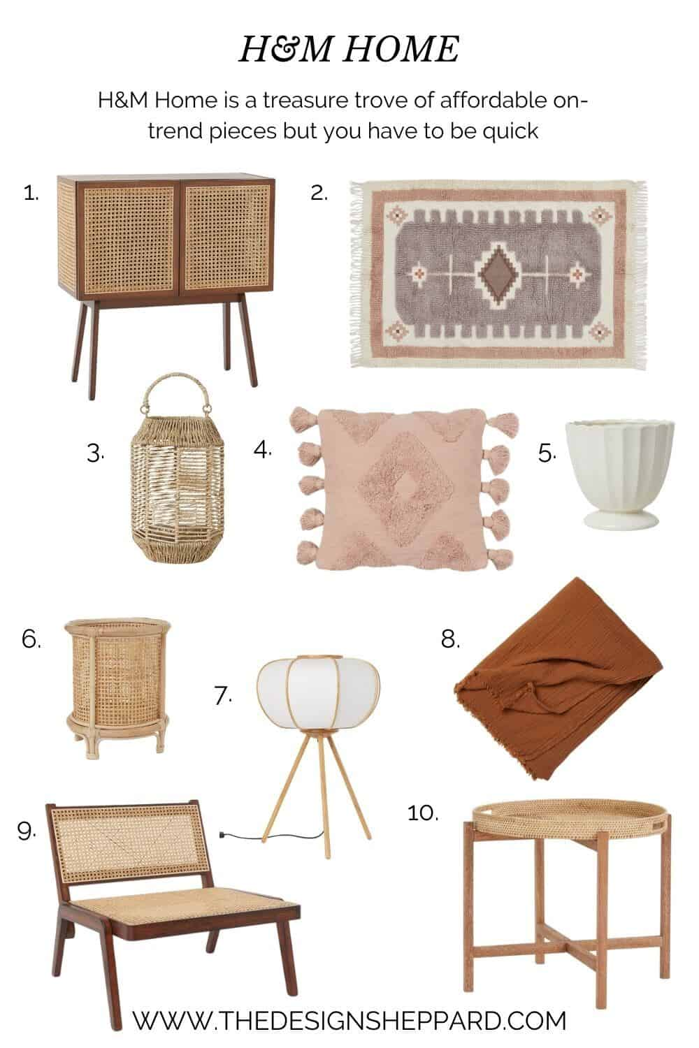 10 on-trend affordable products from H&M Home