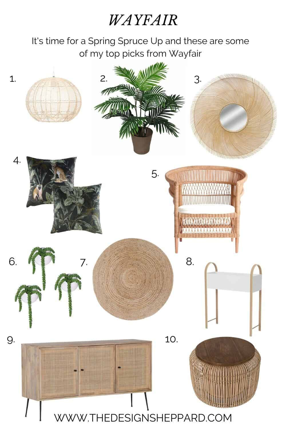 Give your home a spring spruce up with this selection of homeware from Wayfair