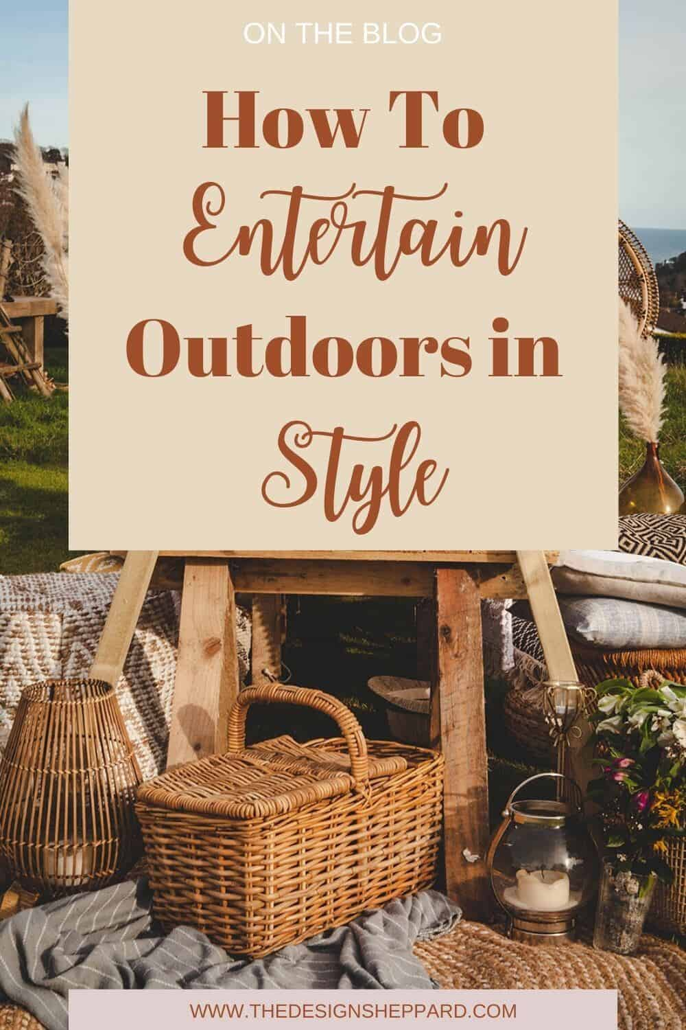 Entertain outdoors in style this summer
