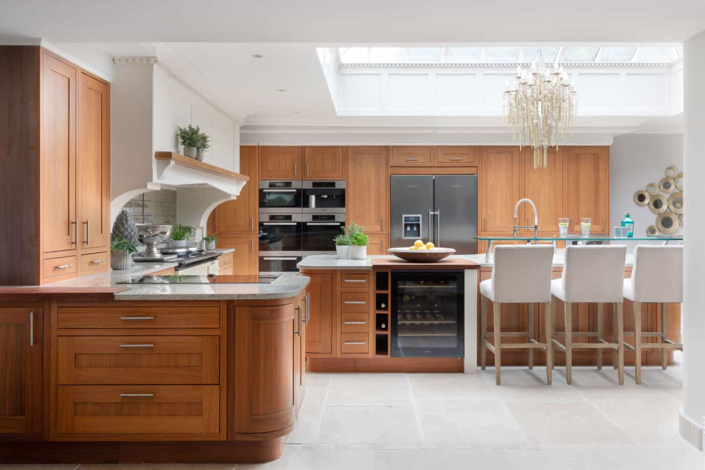 How to get your dream kitchen on a budget.  Pre-loved walnut kitchen from used kitchen exchange