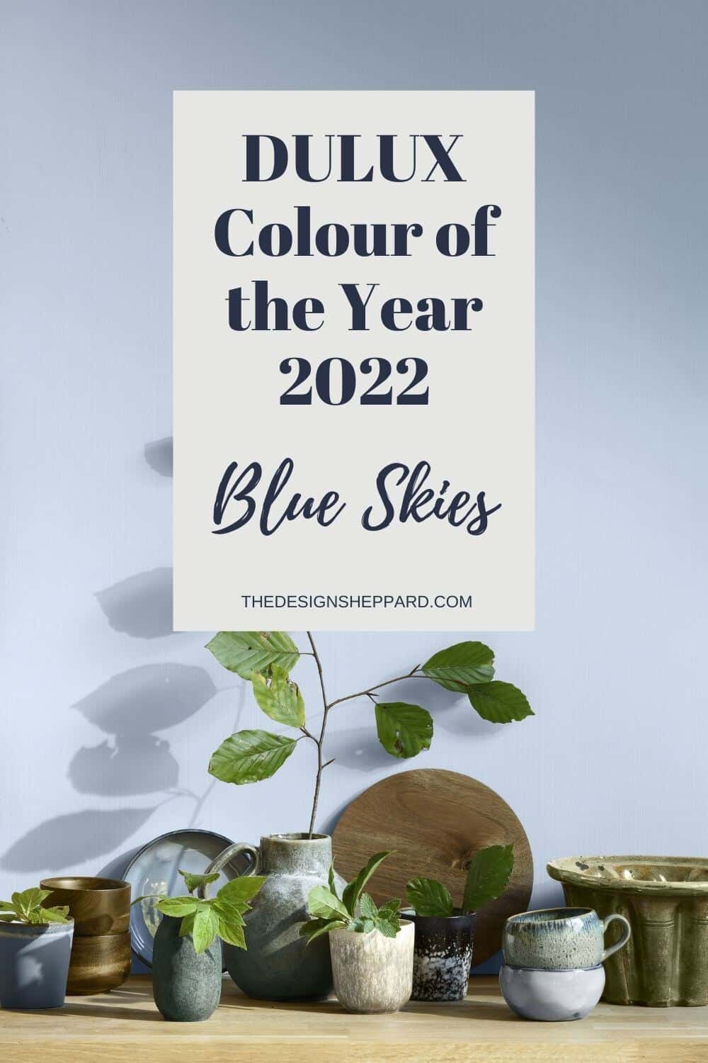 Pinterest Pin Dulux Colour of the Year 2022 Bright Skies