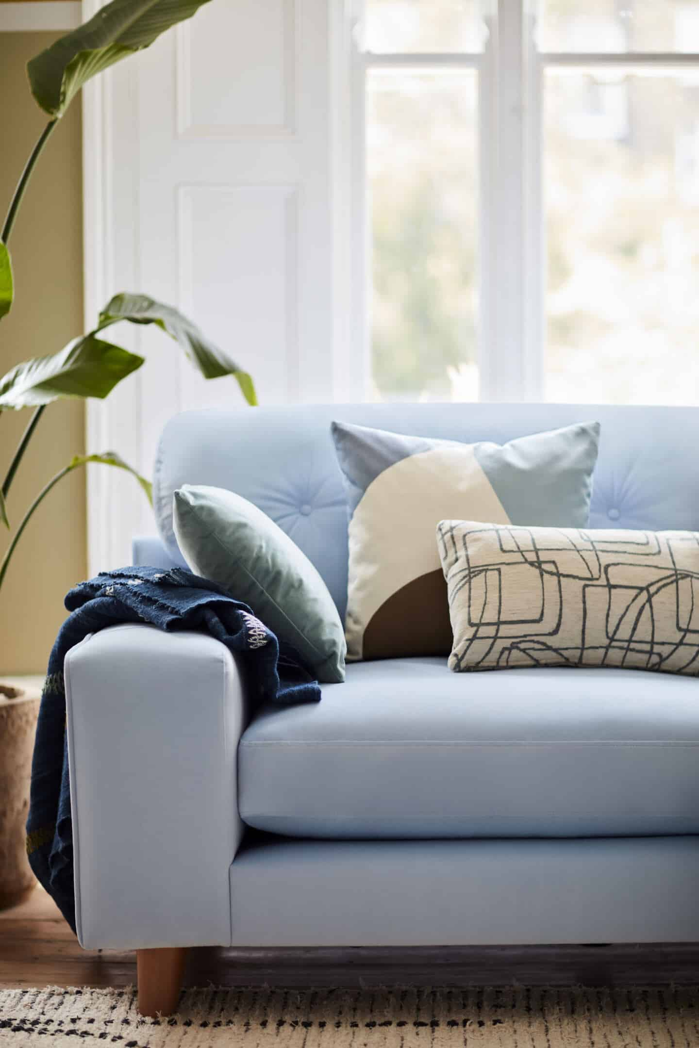 DFS Java Sofa in Dulux Colour of the Year 2022 Bright Skies